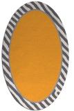 rug #1048442 | oval plain light-orange rug