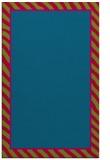 rug #1048570 |  plain blue-green rug