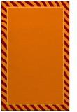 rug #1048650 |  orange stripes rug