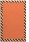 rug #1048658 |  plain orange rug