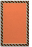 rug #1048662 |  plain red-orange rug