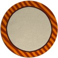 rug #1048814 | round plain orange rug