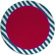 rug #1048934 | round plain red rug