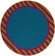 rug #1048938 | round plain blue-green rug