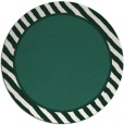 rug #1048950 | round plain blue-green rug