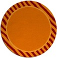 rug #1049018 | round plain red-orange rug