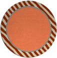 rug #1049026 | round plain orange rug