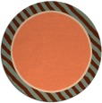 rug #1049030 | round orange borders rug
