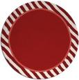 rug #1049074 | round red stripes rug