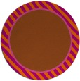 rug #1049090 | round plain red-orange rug