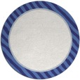 rug #1049110 | round white stripes rug