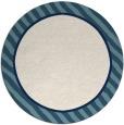 rug #1049122 | round white animal rug