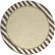 rug #1049134 | round yellow stripes rug