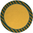 rug #1049142 | round plain yellow rug