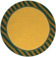 rug #1049142 | round plain light-orange rug