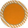 rug #1049174 | round plain light-orange rug
