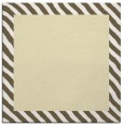 rug #1049870 | square yellow stripes rug