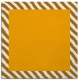 rug #1049902 | square plain light-orange rug