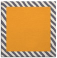 rug #1049914 | square plain light-orange rug