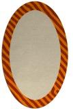 rug #1049918 | oval plain orange rug