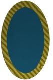 rug #1049998 | oval plain blue-green rug