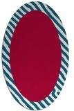 rug #1050038 | oval plain red rug