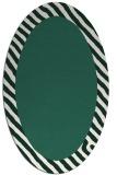 rug #1050054 | oval plain blue-green rug