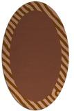 rug #1050066 | oval plain brown rug
