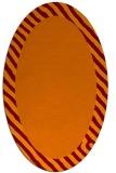 rug #1050122 | oval plain orange rug