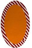 rug #1050126 | oval plain orange rug