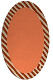 rug #1050130 | oval plain orange rug