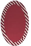rug #1050144 | oval plain rug