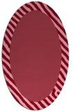 rug #1050146 | oval plain pink rug