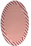 rug #1050150 | oval plain white rug