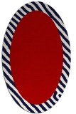 rug #1050170 | oval red borders rug