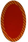 rug #1050174 | oval plain orange rug