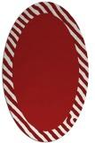 rug #1050178 | oval red borders rug