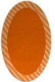 rug #1050190   oval plain red-orange rug