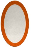 rug #1050198 | oval plain red-orange rug