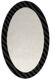 rug #1050206 | oval white stripes rug