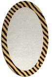 rug #1050218 | oval plain brown rug