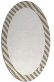 rug #1050230 | oval plain beige rug