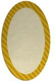 rug #1050234 | oval plain yellow rug