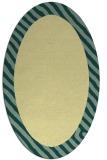 rug #1050250 | oval plain yellow rug