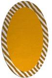 rug #1050270 | oval light-orange borders rug