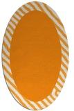 rug #1050278 | oval plain light-orange rug
