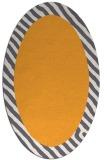 rug #1050282 | oval plain light-orange rug