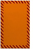 rug #1050490 |  plain red-orange rug