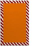 rug #1050494 |  plain orange rug