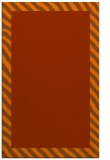 rug #1050554 |  plain red-orange rug